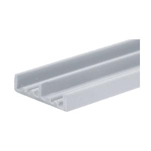 """CRL D702GRY Gray Lower Plastic Track for 1/4"""" Sliding Panels"""