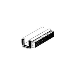 "CRL 3K196 3K1 Rigid 96"" Unbeaded Glass Edge Weatherstrip"