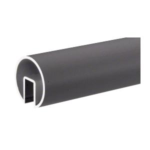 """CRL GR25DU Dark Bronze 2-1/2"""" Extruded Aluminum Cap Rail for 1/2"""" or 5/8"""" Glass - 240"""""""