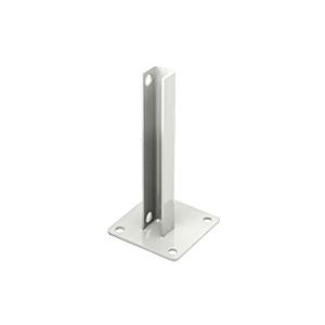 CRL PSB3AW Sky White AWS Steel Stanchion for 90 Degree Rectangular Corner Posts