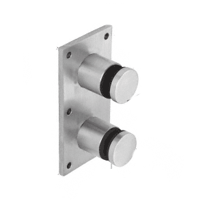 """CRL RS0B20BS 316 Brushed Stainless Steel Standard 2"""" Glass Rail Standoff Fitting with Mounting Plate"""