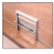 """CRL 702A Satin Anodized Vertical Sliding Ticket Window with 18"""" x 3-1/2"""" Opening"""