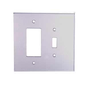 CRL PMP206 Clear Designer and Toggle Combo Acrylic Mirror Plate