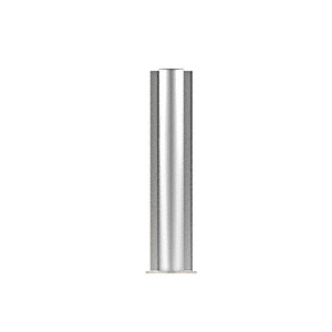 "CRL PP0818CPS Polished Stainless 18"" Round PP08 Elegant Series Counter/Partition Center Post"