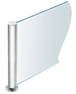 """CRL PP0818CPS Polished Stainless 18"""" Round PP08 Elegant Series Counter/Partition Center Post"""