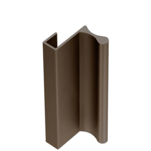 "CRL D646DU Dark Bronze 6"" Aluminum Pull with 7/16"" Lip for Sliding Glass and Panel Door"