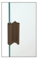 "CRL D646DU Dark Bronze 6"" Aluminum Pull with 7/16"" Lip for Sliding Glass and Panel Door"