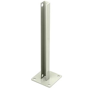CRL PSB3B0W Oyster White AWS Steel Stanchion for 90 Degree Rectangular Corner Posts