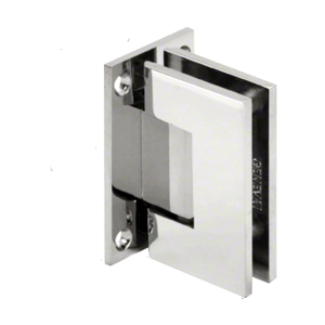CRL V1E537CH Polished Chrome Vienna 537 Series Wall Mount Hinge with Internal 5 Degree Pin
