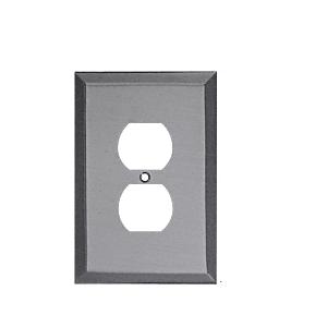 CRL MMP2BN Brushed Nickel Single Duplex Metal Mirror Plate