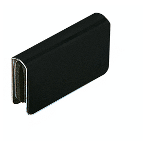 CRL GDH7BL Black Rectangular Strike Plate