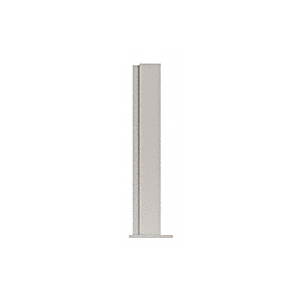 """CRL PP43EBS Brushed Stainless 12"""" High 1-1/2"""" Square PP43 Plaza Series Counter/Partition End Post"""