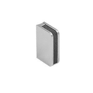 "CRL SA96BS Brushed Stainless Closed Bottom Left Hand Bottom Radius Base 1/4"" Glass Clip"