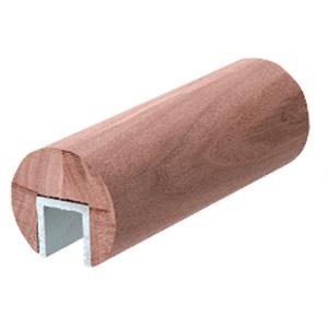 """CRL WCR20WL Walnut 2"""" Diameter Wood Cap Rail - 1/2"""" or 5/8"""" Glass"""