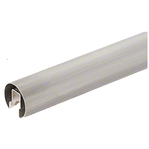 "CRL GR20BS14 304 Grade Brushed Stainless 2"" Premium Cap Rail for 1/2"" or 5/8"" Glass - 168"""