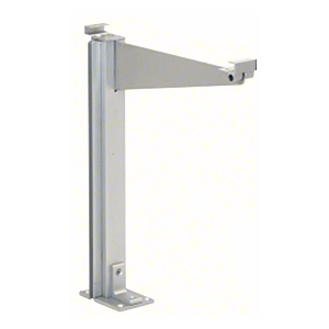 "Satin Anodized 18"" High Left Hand Closed End Design Series Partition Post with 12"" Deep Top Shelf"