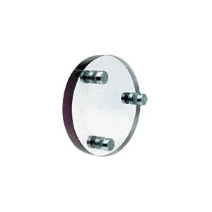 CRL CAD101 Round Level 1 Clear-Vision Bullet Resistant Acrylic Speak-Thru