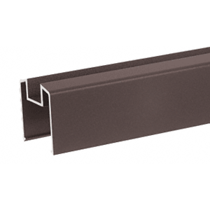 """Matte Bronze 200, 300, 350, and 400 Series Bottom Rail for Glass 241"""" Long"""