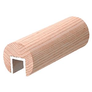 "CRL WCR30W0 White Oak 3"" Diameter Wood Cap Rail- 1/2"" or 5/8"" Glass"