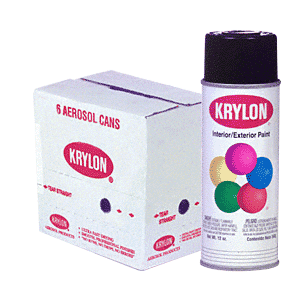 KRYLON KP1601 Glossy Black Spray Paint