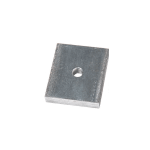 "CRL BSWB12 1/2"" Steel Weld Blocks for 8B, B5A, B5L, B5S, B5T, and 9BL56 Series Heavy Aluminum Base Shoe - Pk/10"