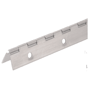 "CRL 2416NS Nickel on Steel Piano Hinge with 1-1/2"" Open Width"