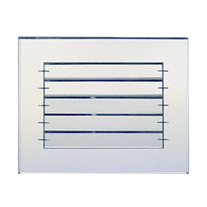 """CRL AMG1080 Clear 10"""" x 8"""" Adjustable Louver Acrylic Mirror Grille"""