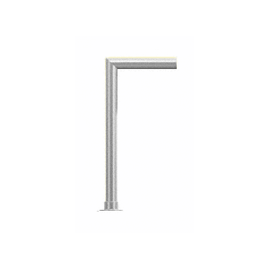 CRL SG925PS Polished Stainless Elegant Series Glass on Front and Top Shelf Sneeze Guard - Right Hand End Post Only