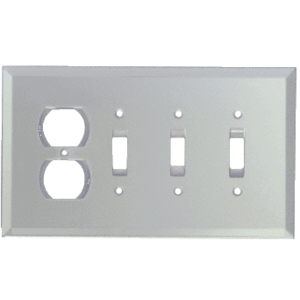 CRL GMP20C Clear Single Duplex and Triple Toggle Glass Mirror Plate