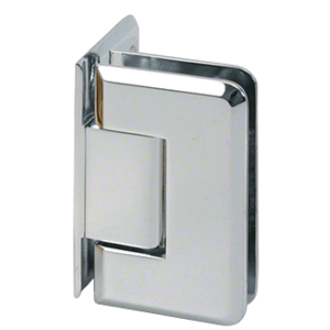 CRL P1N044CH Polished Chrome Pinnacle 044 Series Wall Mount Offset Back Plate Hinge