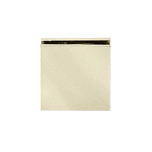 CRL SCU4BR Polished Brass Square Style Hole-in-Glass Fixed Panel U-Clamp