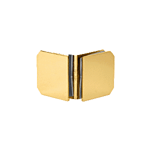 CRL M0690BR Brass Monaco Series 90 Degree Glass-to-Glass Clamp