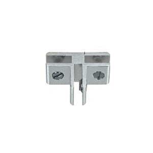 CRL E314A Chrome 3-Way 90 Degree Aluminum Glass Connector