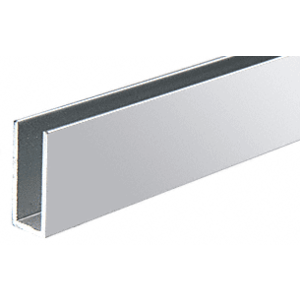 "CRL D623BA Brite Anodized 1/4"" Single Channel with 1"" High Wall"