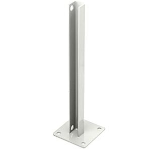 CRL PSB5BW Sky White AWS Steel Stanchion for 135 Degree Rectangular Center Posts