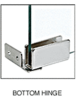 CRL GDH86CH Chrome Recess Mount Glass Door Hinge