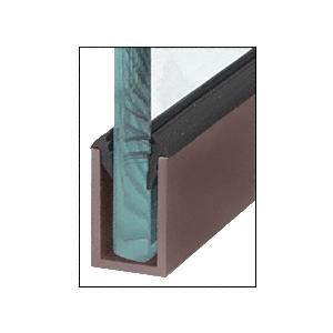 "CRL WU1DUSL Black Bronze Anodized Wet Glaze 1-1/2"" Deep U-Channel 120"" Stock Length"
