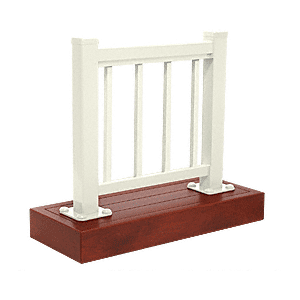 CRL ARS1PL0W Oyster White 100 Series Aluminum Picket Railing System Large Showroom Display