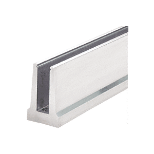 CRL B5T10D Mill Aluminum Tapered Base Shoe Drilled with Hole Pattern D in a 10' Length