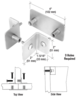 CRL PB008SC Satin Chrome Bullet Resistant Protective Barrier System Top or Mid-Mount T-Clamp