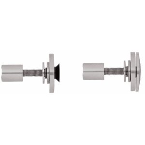 "CRL RRF10BS Brushed Stainless Steel Rigid Combination Fastener for 3/8"" to 1/2"" Tempered Glass"