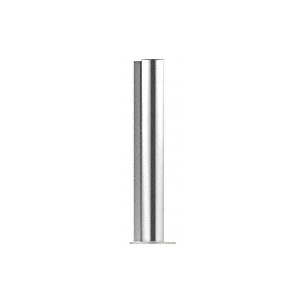 "CRL PP0818LPS Polished Stainless 18"" Round PP08 Elegant Series Counter/Partition Corner Post"