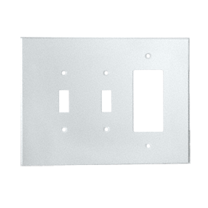 CRL PMP306 Clear Double Toggle Switch Single Designer Acrylic Mirror Plate