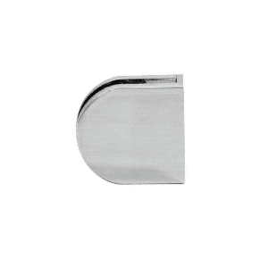 "CRL Z512BS Brushed Stainless Z-Series Round Type Flat Base Stainless Steel Clamp for 1/2"" Glass"
