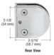"""CRL Z512BS Brushed Stainless Z-Series Round Type Flat Base Stainless Steel Clamp for 1/2"""" Glass"""