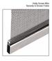 "CRL SS090C .090"" Gray Screen Retainer Spline - 100'/Roll"