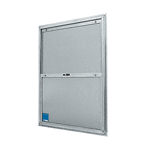 "CRL BACP264 20-3/4"" x 38-3/4"" Bel-Air ""Plaza"" Replacement for Competitive Combination Unit with Clear Tempered Glass and Mill Frame for 1-3/4"" 2-6 Door"