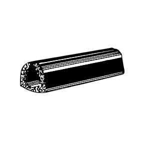 """CRL AV876 Rubber Glazing Channel for 1/4"""" Material - 1/2"""" Height"""