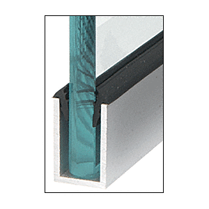 "CRL WU1SA240 Satin Anodized Wet Glaze 1-1/2"" Deep U-Channel 240"" Stock Length"