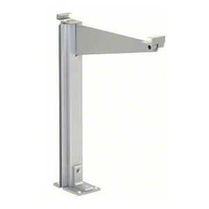 """CRL D995ALH0E Satin Anodized 18"""" High Left Hand Open End Design Series Partition Post with 12"""" Deep Top Shelf"""